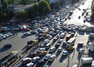 trafic infernal in bucuresti